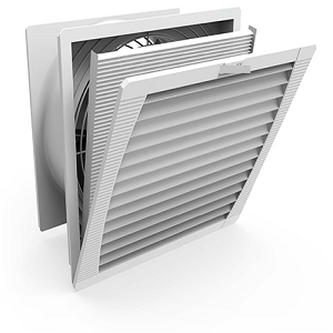 Electrical enclosure vents with fans and filters