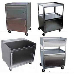Polished Stainless Steel Cabinet Carts