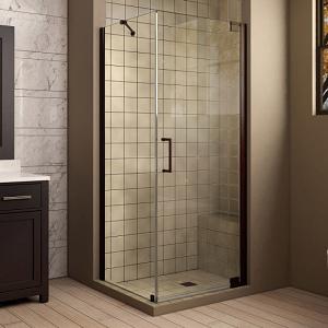 Semi-Frameless Corner Shower Enclosure