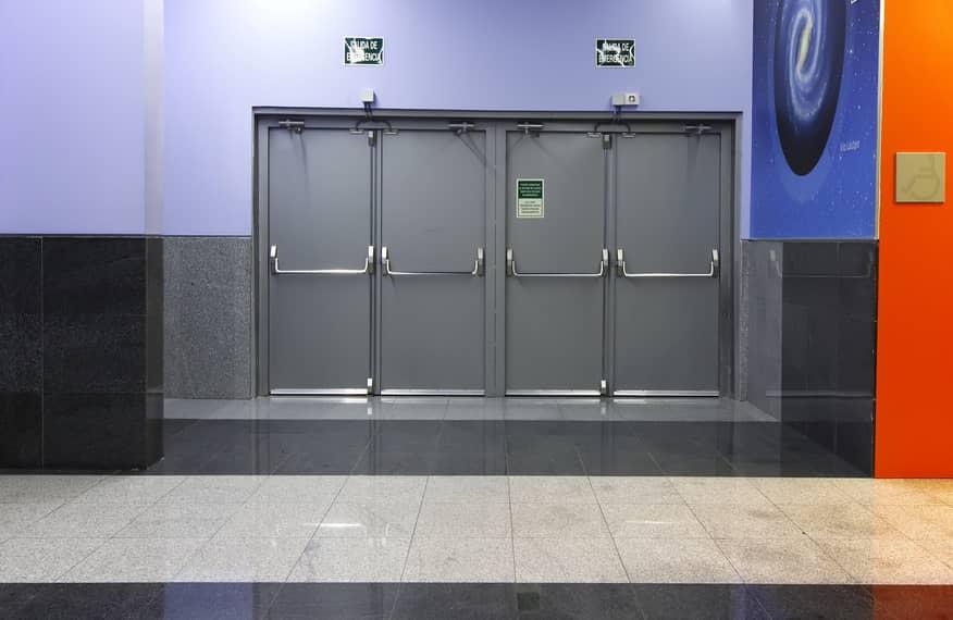 Aluminum 90 Minute Fire Rated Door