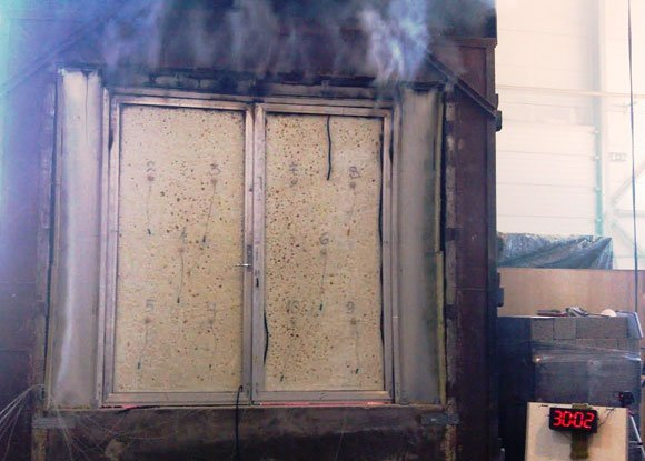 Test Of A 90 Minute Fire Rated Door
