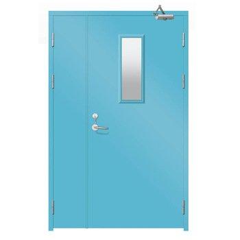 Blue 20-minute fire-rated door