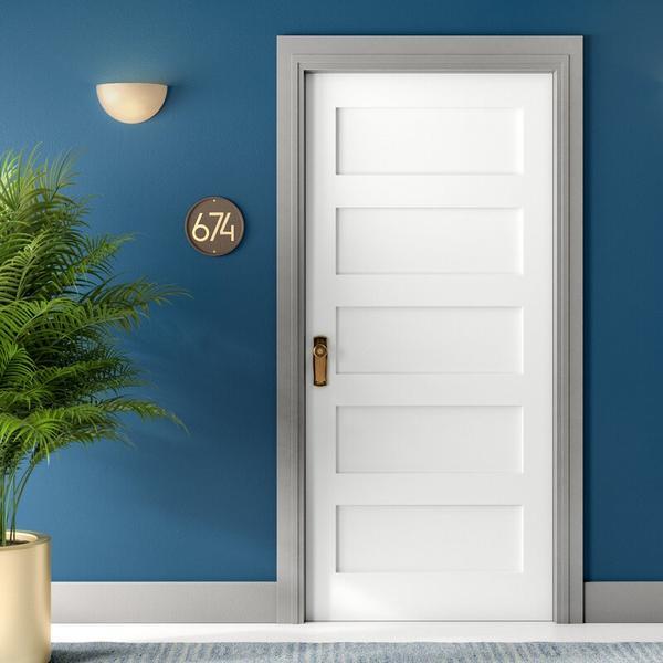 Panelled 20-minute fire door