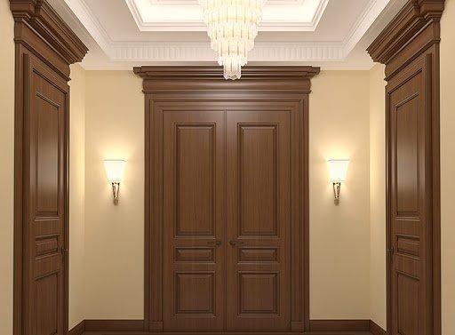 Luxurious hall interior. 3d render.