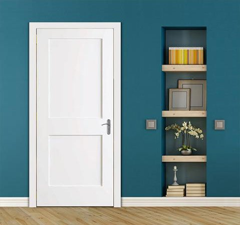 White 20-minute fire-rated door