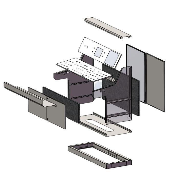 Computer Kiosk Cabinet