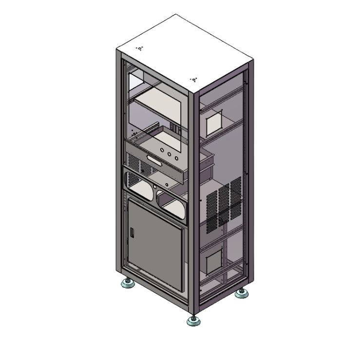 Electrical Enclosure with Adjustable Feet