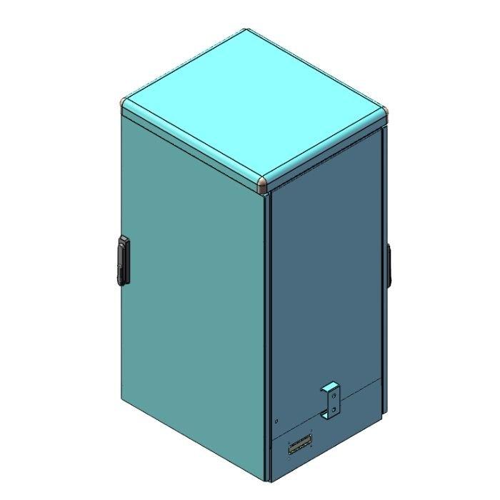 Electrical Enclosure with Front Door and Rear Door