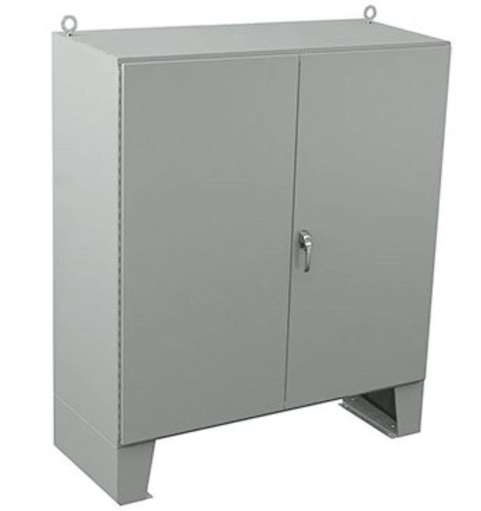 Free-standing battery enclosure