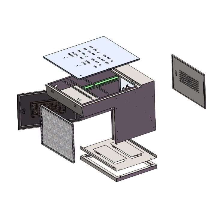 Operation Console with Din Rail