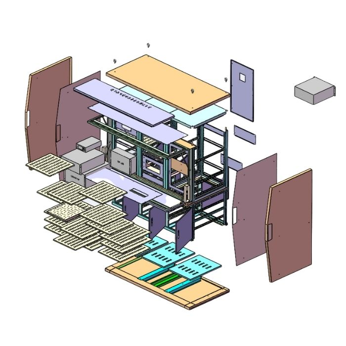 Operation Console with Shelves