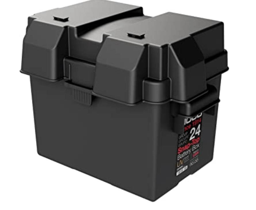 Plastic battery enclosure box