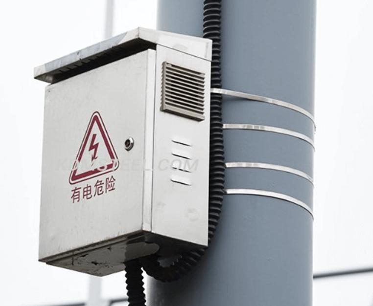 Pole-mounted battery enclosure