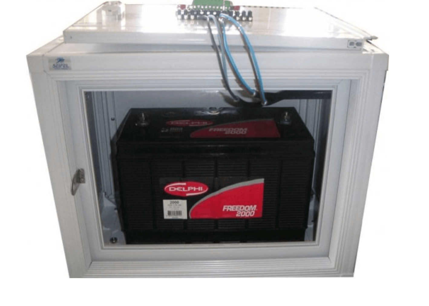 Sealed battery in an enclosure