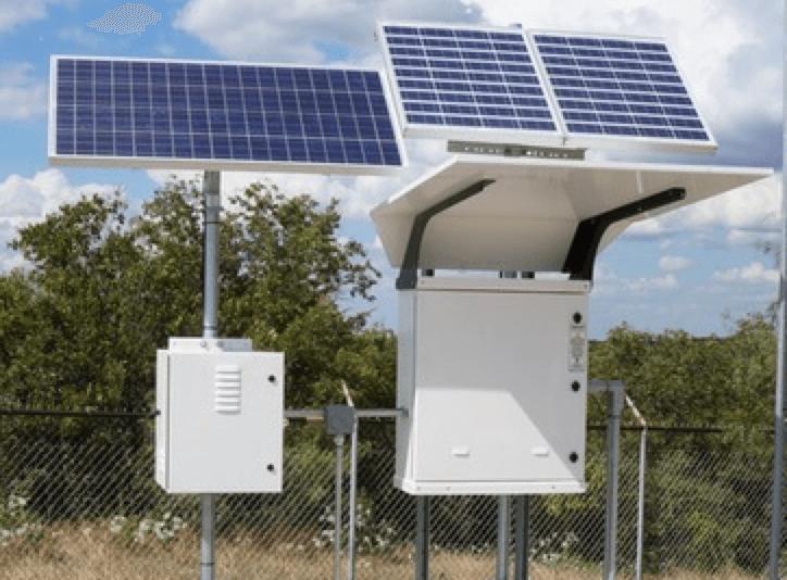 Solar bank battery enclosure
