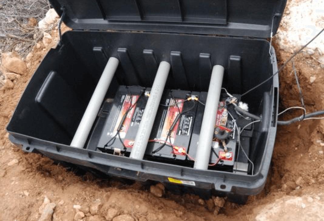 Underground battery enclosure