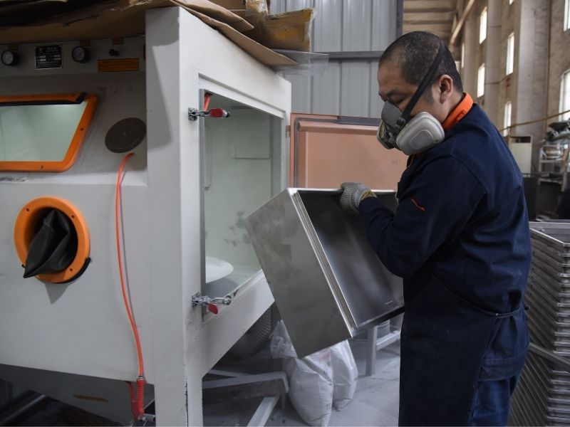 electrical enclosure finishing and sanding