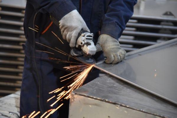 electrical enclosure panel polishing